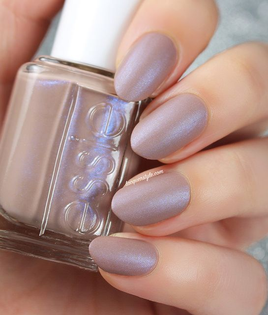 Essie 2015 Cashmere Matte Collection - Comfy in Cashmere.