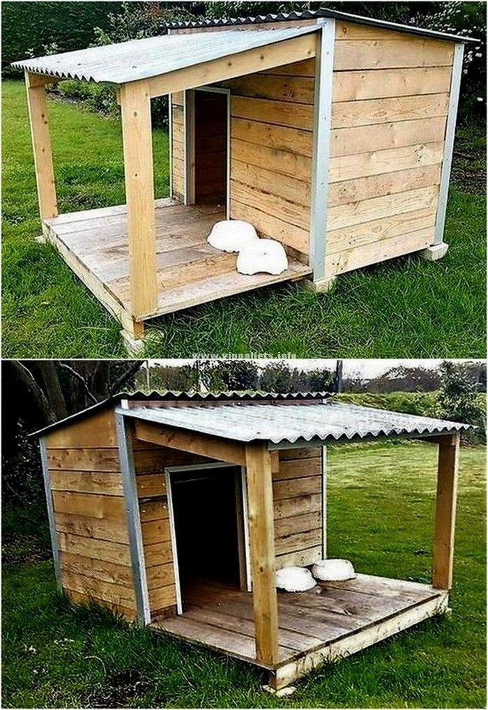 Wonderful Wooden Pallets Dog House Ideas Cool Dog Houses Dog