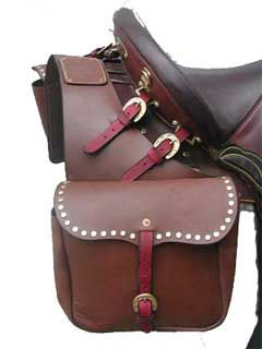 colorful pictures of western saddles | The Western Saddle Bags also come with brass studs lining the top flap ...