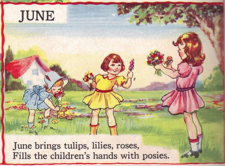 """JUNE - The Bumper Book; """"A bumper crop of good stories and poems to grow on"""" Illustrated by Eulalie Edited by Watty Piper 1946"""