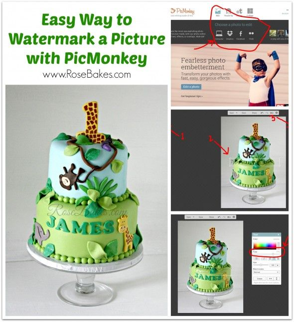 If you love cake decorating and you have a cake business, you need to be taking pictures of your cakes! And if you choose to share them (a great way to build your business!!), you need to watermark them! Here's an easy (free) way to do that: http://rosebakes.com/easy-way-watermark-picture-picmonkey/