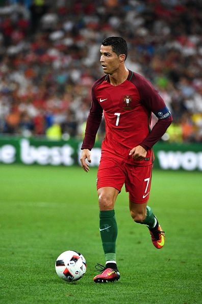 #EURO2016 Cristiano RONALDO of Portugal during the UEFA Euro 2016 Quarter Final between Poland and Portugal at Stade Velodrome on June 30 2016 in Marseille...