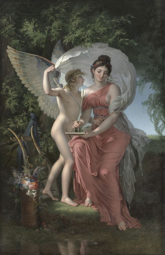 'Erato, Muse of Lyrical Poetry' (1800) by Charles Meynier