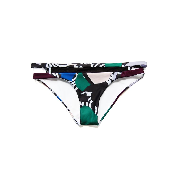 Donny Panties in Dusk Print. Shop at www.bodymaps.pl #swimwear #beachwear #swimsuit #bathing #suit #green #blue #purple beige #unique #black #white #contrast #briefs #panties #transparent #stripe #sexy #vivid #big #print #youngdesigner #newbrand #bodymaps