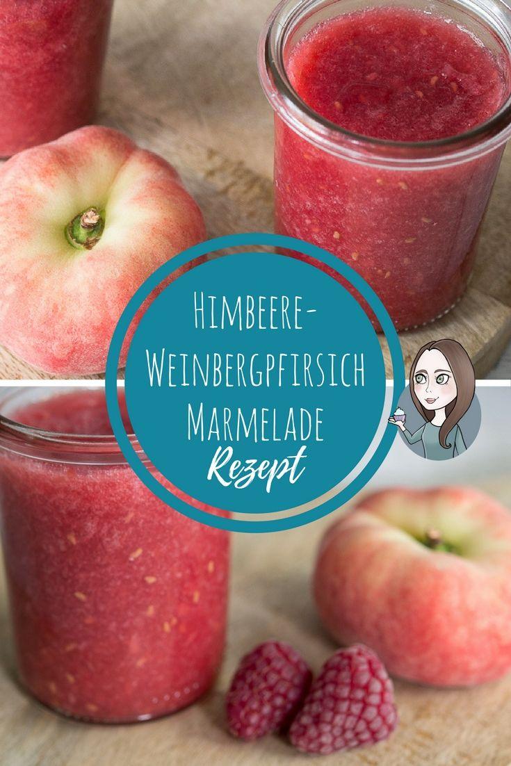 Marmelade mit Weinbergpfirsich und Himbeere Rezept einfach fruchtig selber machen