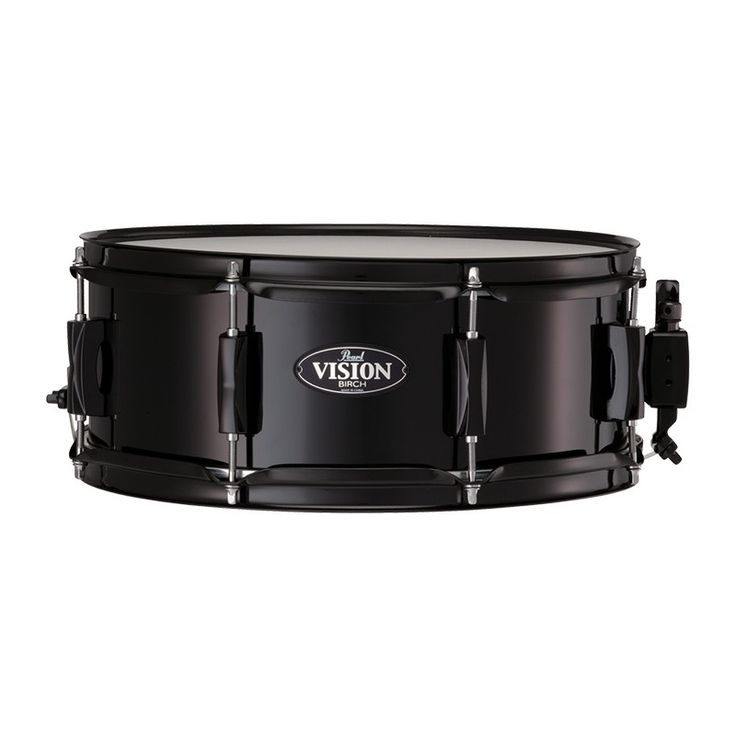Pearl Vision Birch 14 x 5.5 Snare Drum, Black with Black Fittings. #pearl #snare #drum
