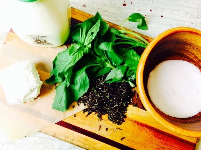 How to Make Jeni's Black Tea Goat Cheese Basil Ice Cream Recipe