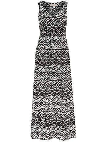Maxi-robe noire et blanche aztèque Billie