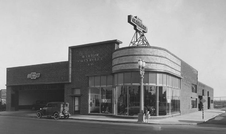 Harbor Chevrolet Company, 304 East Anaheim St, Wilmington, CA. by Peters & Ruck photo circa 1923 to 1933