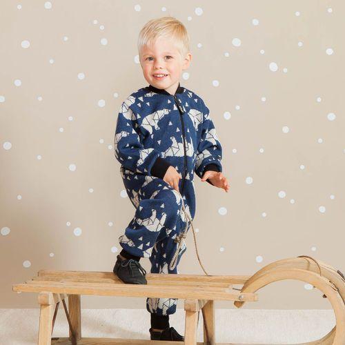 ARCTIC baby villahaalari, sininen | NOSH & KIVAT villavaatemallisto tarjoaa villavaatteita  ja asusteita syksyyn ja talveen! Pipoja myös aikuisille. Tutustu mallistoon ja tilaa NOSH vaatekutsuilta, edustajalta tai verkosta http://nosh.fi/category/950/ | (This collection is available only in Finland )