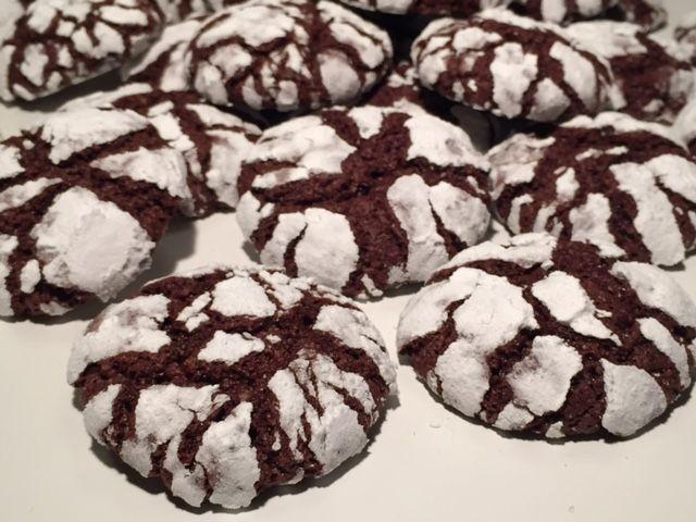 Crinkle cookies med chokolade - Opskrift-kage.dk