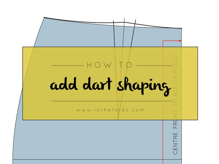 Pattern making tutorial: how to add dart shaping
