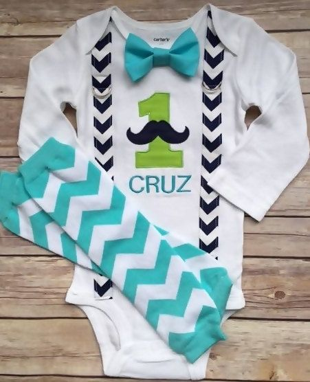 Mustache Cake Smash Outfit!  Baby Boy Cake Smash, Cake Smash Photo Shoot by SewAdorbs on Etsy
