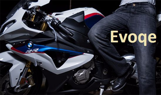 Evoqe the # 1 online shopping store in UK where you can buy motorcycle trousers, pants, jackets, helmets, gloves for motor bikers to protect them. You can buy best quality at very best price. This brand is trusted trade mark Kevlar.