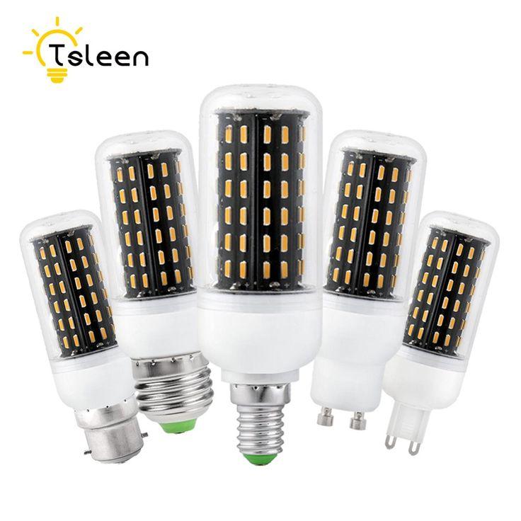 TSLEEN Lampada Led E27 E14 B22 G9 GU10 SMD 4014 Led Corn Bulb Lamp 220V 36 56 72 96 138LEDs Luz Led 12W 18W 25W 30W 35W Lampada #Affiliate