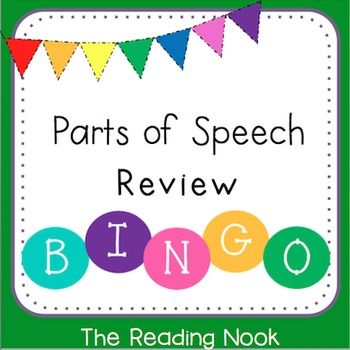 Parts of Speech Bingo Game! This Bingo game is a great way to review all 8 parts of speech! It includes a master list of almost 200 words. There are a total of 30 different cards.A PowerPoint review is included too!Parts of Speech | Bingo | Parts of Speech Activities | Games | Nouns | Verbs | Adjectives | Adverbs | Prepositions | Interjections | Conjunctions | Click on the green star next to my store logo to learn about future sales, new products, and freebies from my store The R...