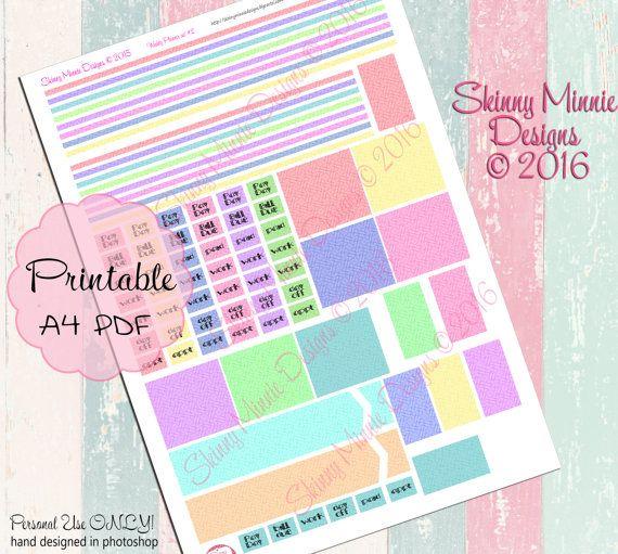 EC Horizontal Weekly Planner Stickers Set 2 by SkinnyMinnieDesigns