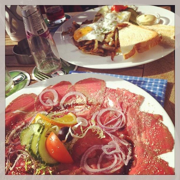 Carpaccio classico Italian cuisine