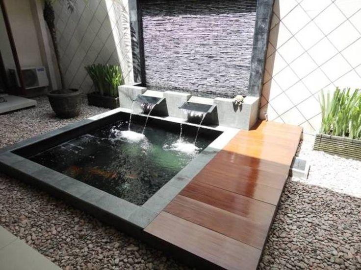 17 best ideas about modern pond on pinterest garden for Modern pond waterfall