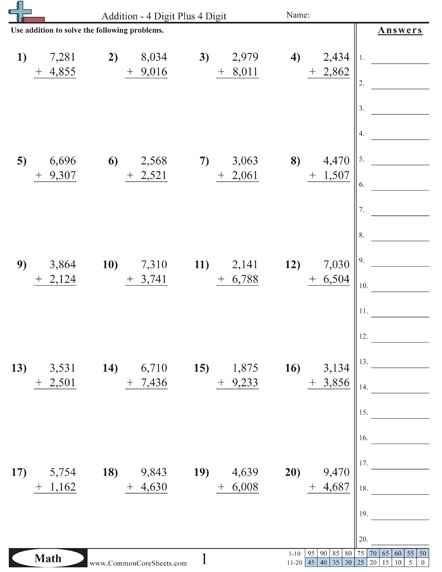 Common Core math worksheets | Addition worksheets, Common ...