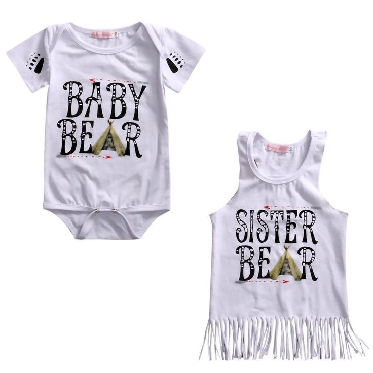 Baby Bear & Sister Bear Matching Outfit