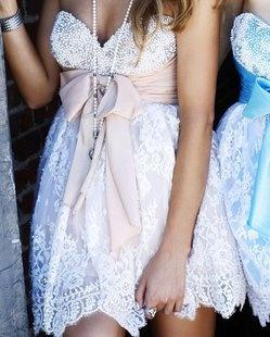 Sherri Hill Lace Dress: Sherri Hill, Parties Dresses, Bridesmaid Dresses, Receptions Dresses, Pink Bows, White Lace, Lace Bows, Rehear Dinners, Lace Dresses