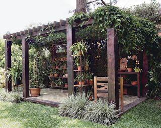velho brasil jardim: PÉRGOLAS E CARAMANCHÕES