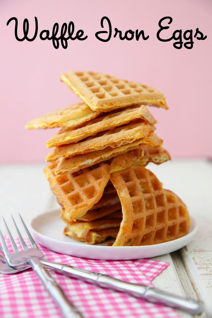 Awesome! Waffle Iron Eggs - cook eggs in the waffle iron, and they are crispy on the outside so that little hands can pick them up to eat them!