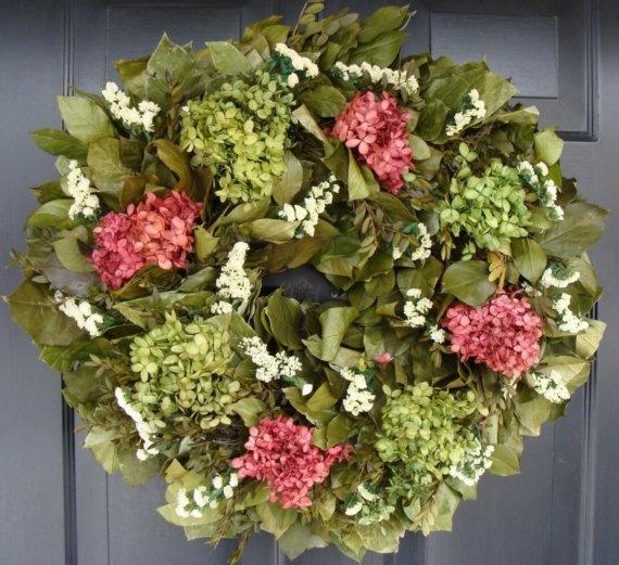 Hydrangea and Statice Year Round Wreath