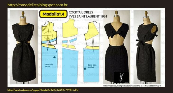Выкройка платья Ив Сен Лоран 1961-года