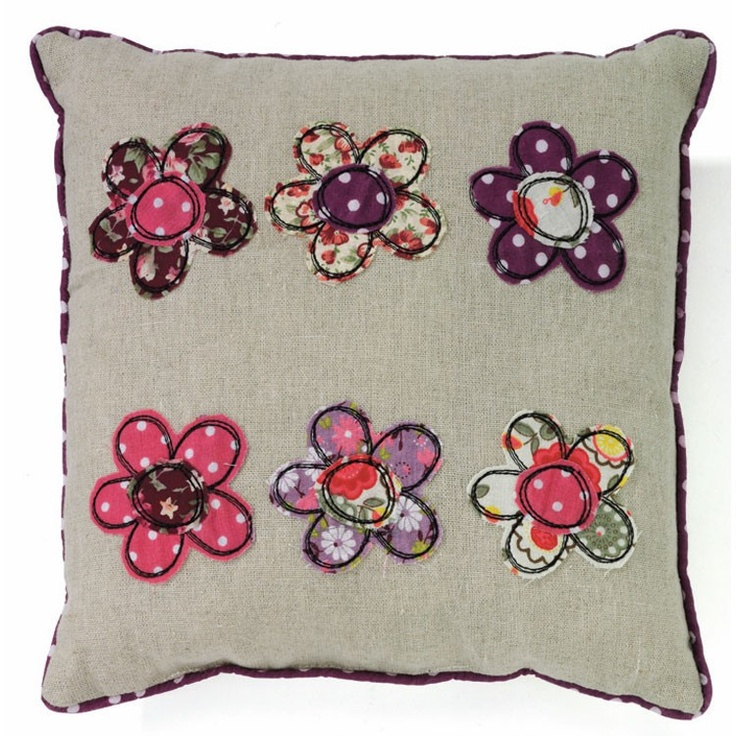 patchwork flowers | Patchwork Flower Cushion