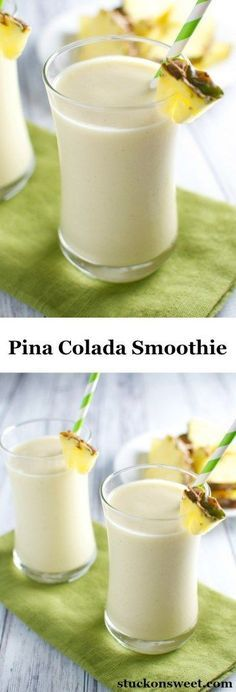 Piña Colada Smoothie | a healthy smoothie recipe that tastes like dessert! | www.stuckonsweet.com