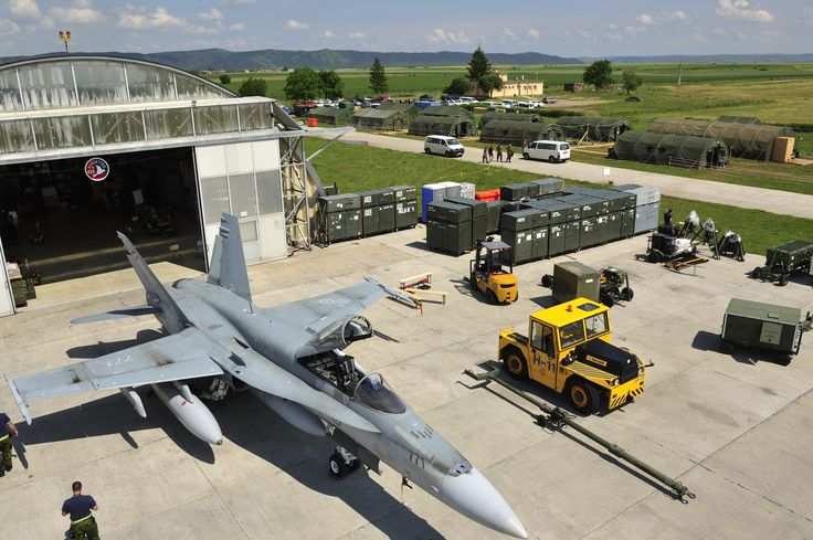 Tail Number (771): View of Canadian Air Task Force Facilities on 04 June 2014 in Câmpia Turzii, Romania where members of Canadian Air Task Force are participating in NATO Reassurance Measures.   Photo by LS Alex Roy, 3 Wing Imaging (BN2014-1017-04)