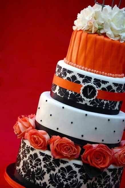 Southern Blue Celebrations Orange Wedding Cake Ideas