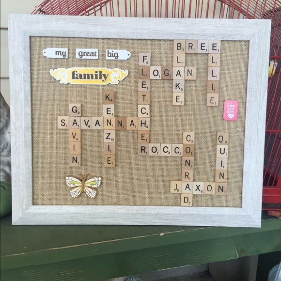 """Personalized rustic gifts handmade Custom made to order!!  FOR SALE-- Family scrabble 8X10 frames: $35 Family scrabble 11X14 frames: $45 Wall/Standing 9"""" tall Letters: $25 Horseshoes, 4-5"""" tall/wide: $20 Anniversary/new home/teacher/ dry erase 5X7 frames: $20 Button Art 8X10 Frames: $30 Penny Balloon 8X10 $30 https://www.facebook.com/Made-by-Me-1660360620891296/  These make amazing gifts for Fathers Day, Graduation, Christmas, Birthdays, Baby Showers, Bridal Showers, teacher appreciation…"""
