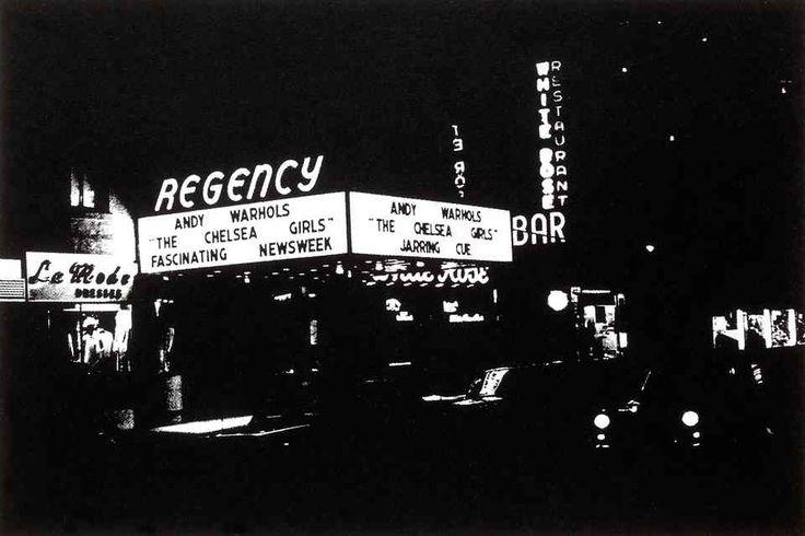 Regency cinema Chelsea Girls marquee, 1966