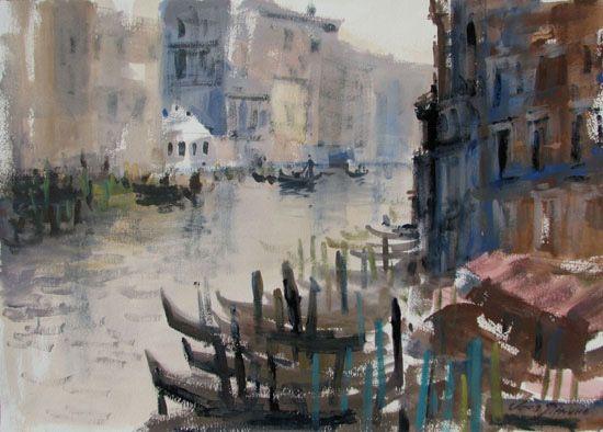#venice #watercolor #painting #art #картины #венеция #акварель #пейзаж #живопись  #художник #картины #гуашь#гондолы