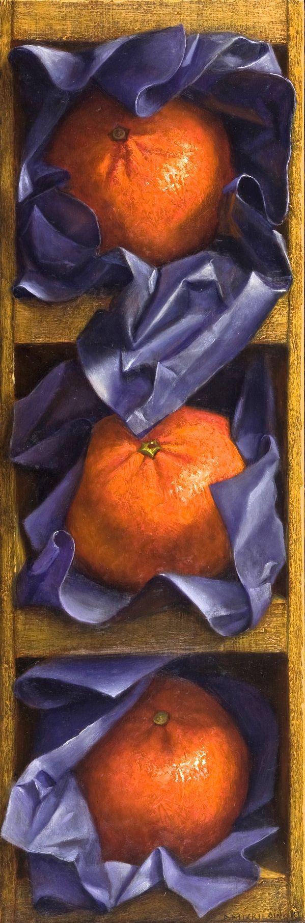 Oranges with Purple Tissue by Denise Mickilowski