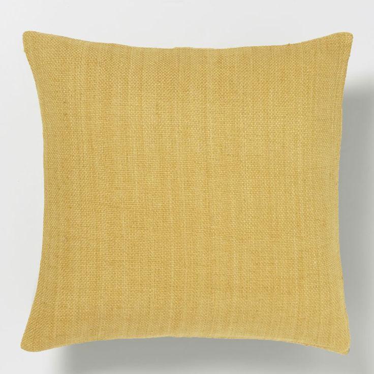 Silk Hand-Loomed Cushion Cover - Horseradish