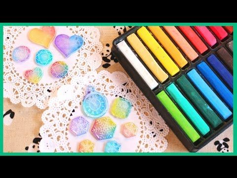 How to Color Shrink Plastic with Chalk Pastels [Collab ft. PolymomoTea] - YouTube