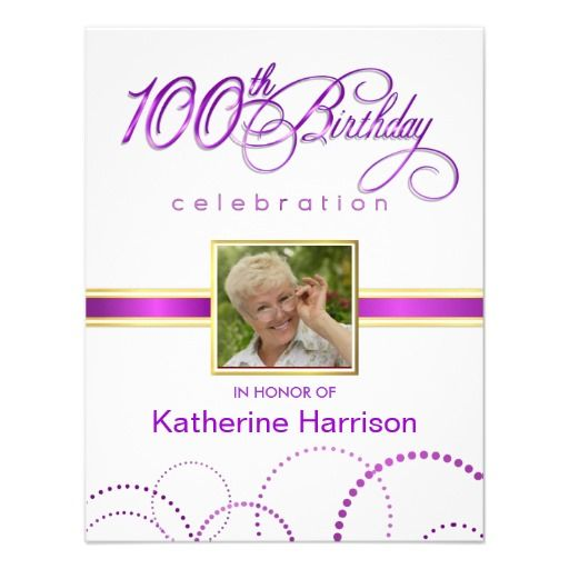 21 best 100Th Birthday Invitation Templates images – 100th Birthday Invitation