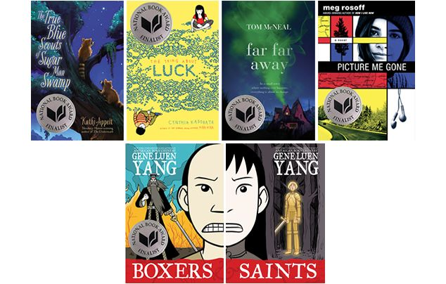 2013 National Book Award Young People's Literature Finalists (Includes MG and YA)