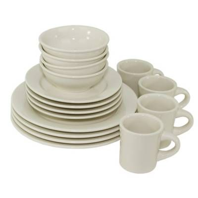 Product Image for Oneida® Buffalo 16-Piece Dinnerware Set in White 2 out of