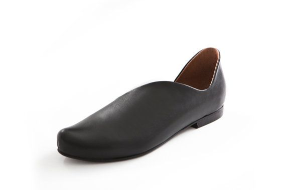 Vente appartements pointus chaussures en cuir par UnaUnaShoes