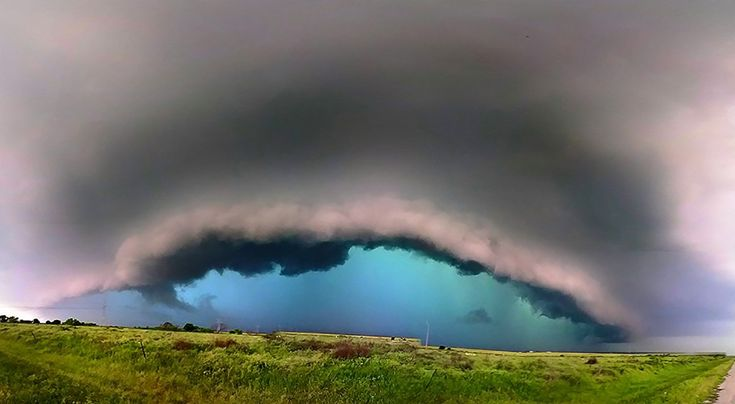 """Caribbean storm""  East Texas by the Oklahoma border on tornado warned super cell."