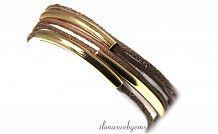 Inspiratie armband met buiskralen in Vermeil, Goldfilled of Sterling Zilver!  Check the link!