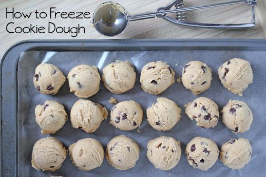 How to Freeze Cookie Dough-doing this for after the baby has arrived!