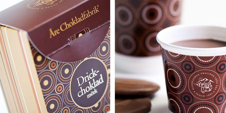 Förpackningsdesign åt Åre Chokladfabrik. Packaging design for Åre Chocolate Factory.
