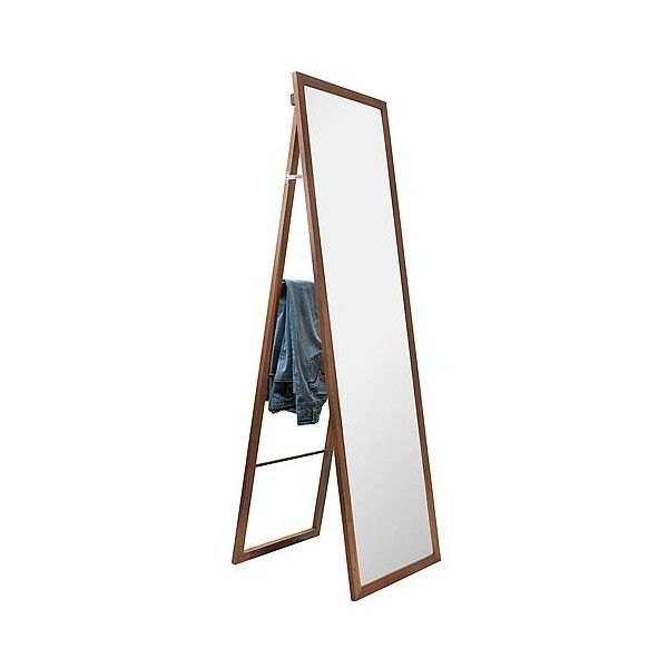 Wooden Storage Mirror with Ladder ($60) ❤ liked on Polyvore featuring home, home decor, mirrors, brown, wooden home decor, wooden wall mirrors, wall mounted mirror, full length mirror and wood mirror