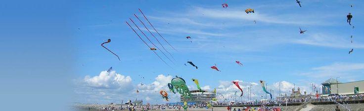 Kites on Morecambe Beach Morecambe Lancashire England